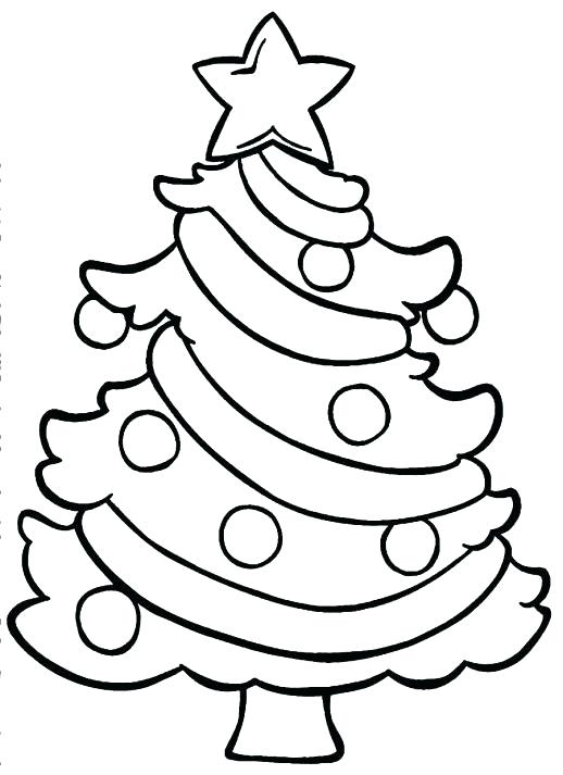 518x713 Free Tree Coloring Pages For The Kids Christmas Tree Coloring