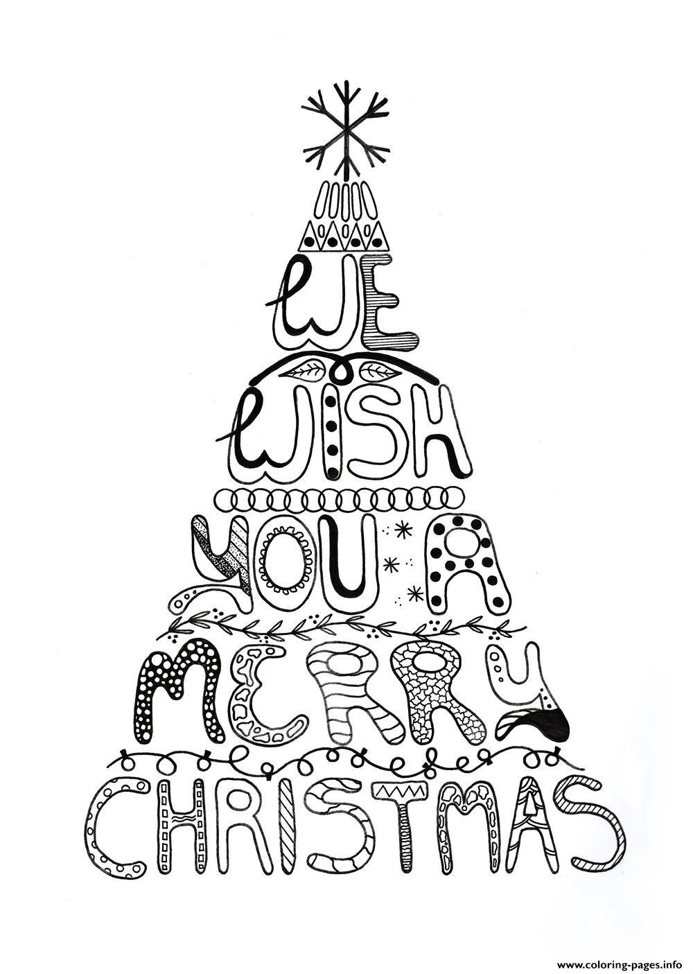 1000x1405 Merry Christmas Adult Tree Coloring Pages Printable