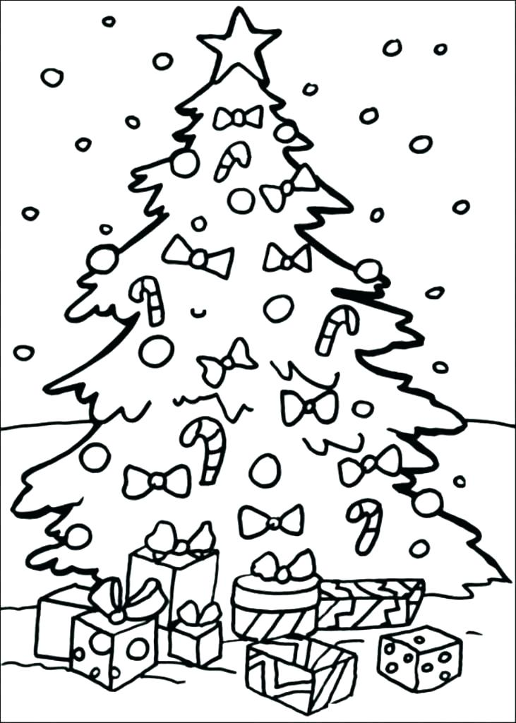 731x1024 Christmas Tree Coloring Pages For Adults