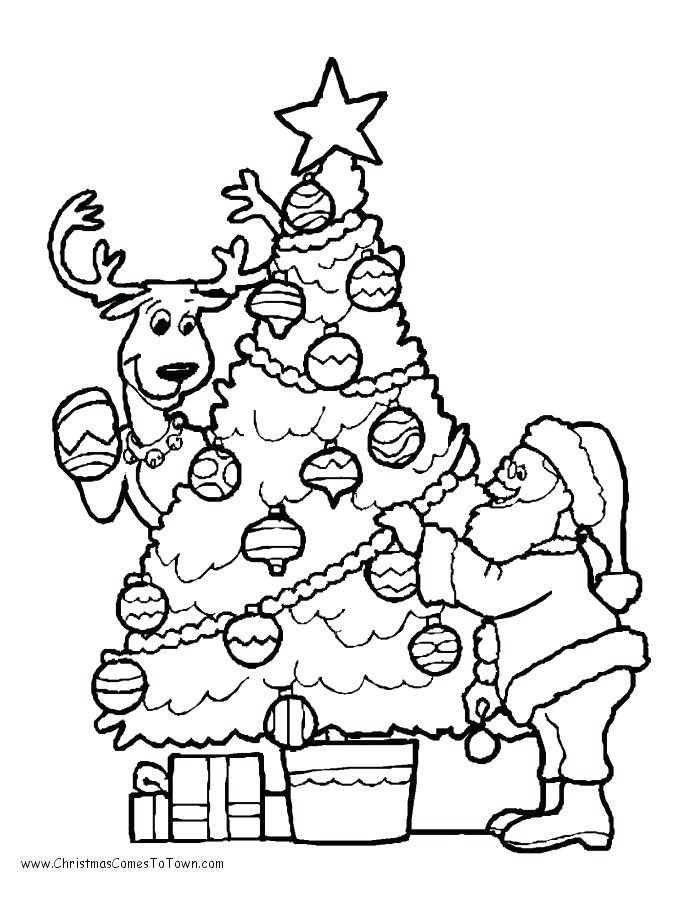 690x900 Xmas Tree Coloring Pages