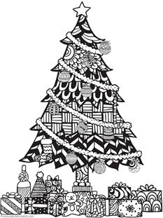 233x311 Christmas Doodle Coloring Pages Christmas Doodles, Doodle