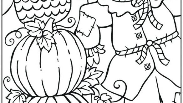 585x329 Fall Themed Coloring Pages Coloring Page Sporturka Fall Themed
