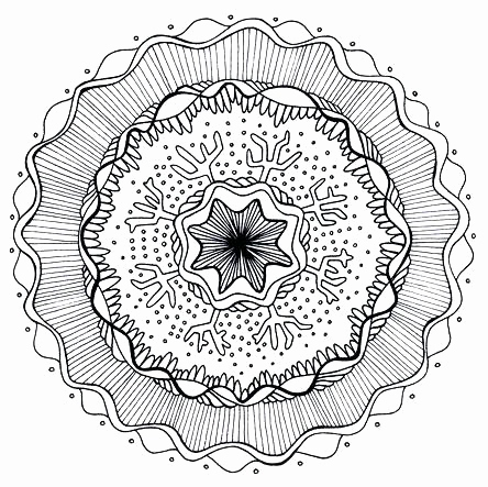 444x443 Free Downloadable Adult Coloring Pages Collection Free Printable