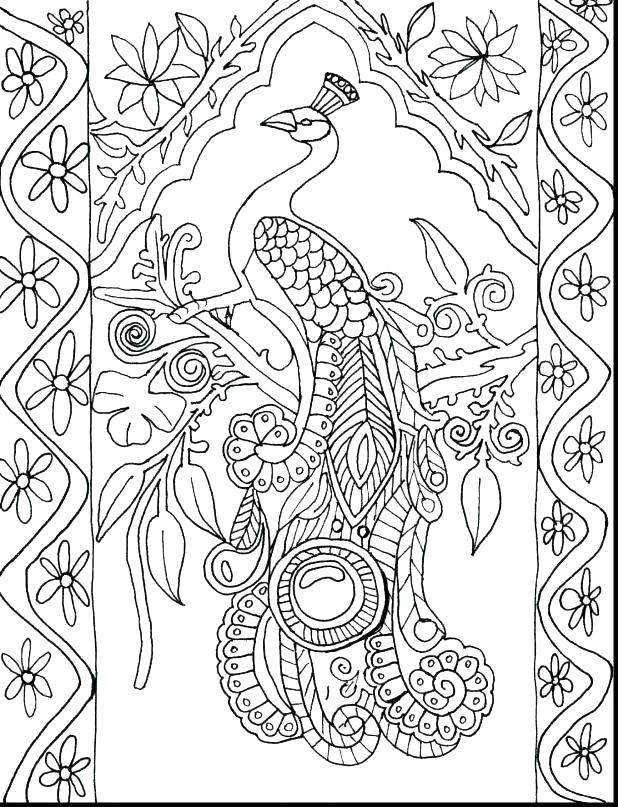 618x807 Outstanding Coloring Pages Birds