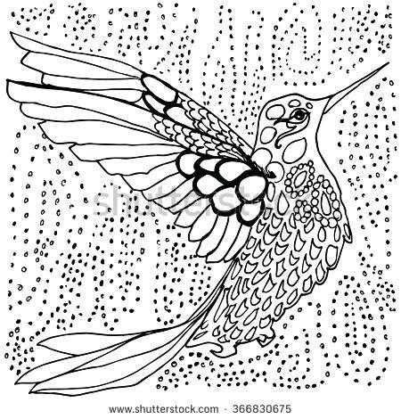 450x470 Adult Coloring Pages Birds Flowers Mandala Designs Hummingbird