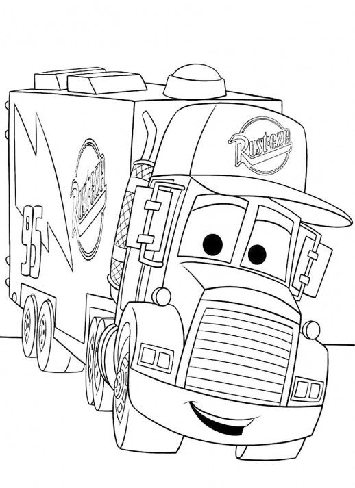 518x713 A Truck For Keeping Mc Queen Disney Cars Coloring Pages Drawings