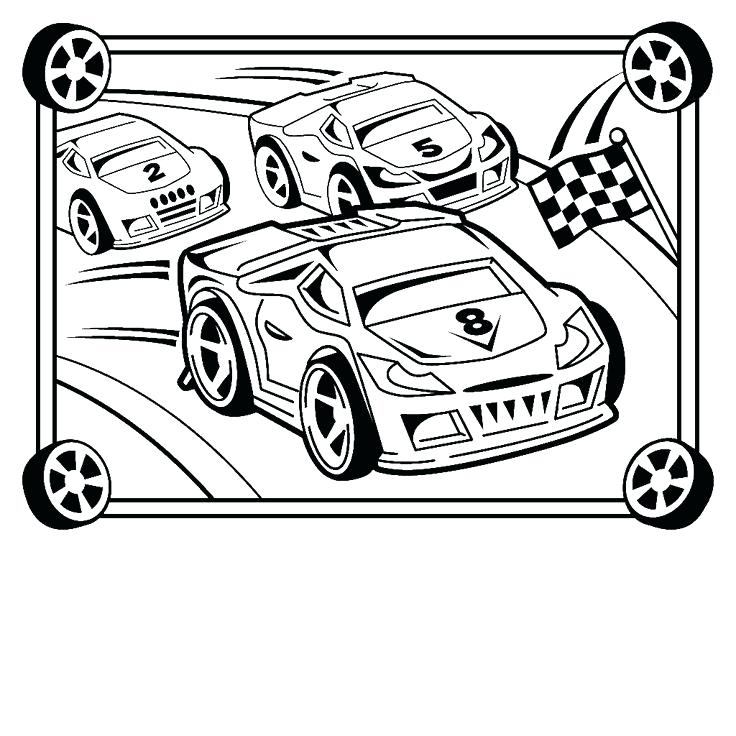 736x736 Cars Coloring Pages