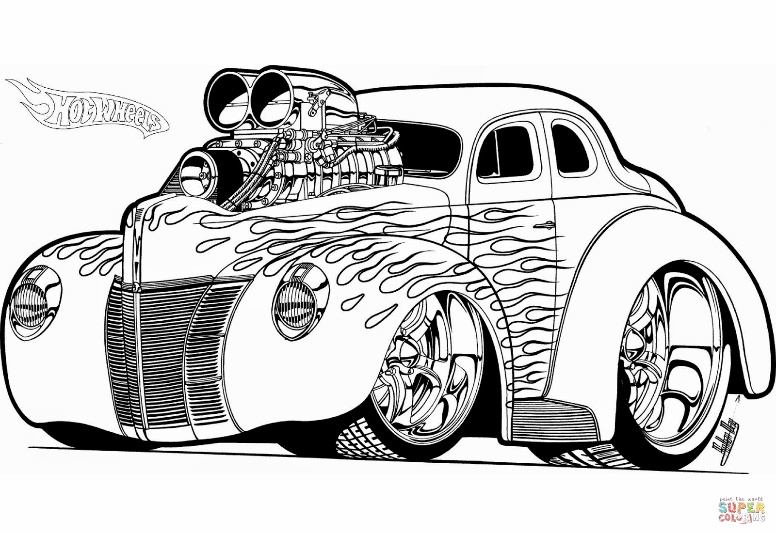 1600x1102 Best Of Tremendous Classic Car Coloring Pages Printable Muscle