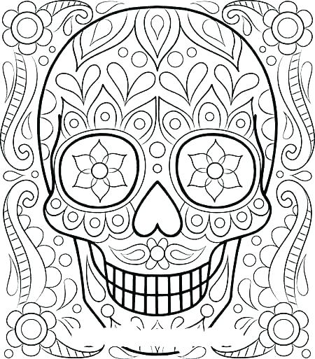 450x513 Free Printable Hard Coloring Pages For Adults As Well As Color