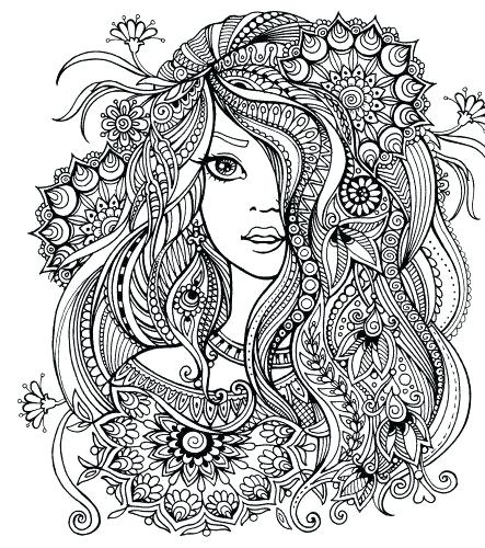 443x500 Adult Coloring Pages Colored Medecine Du