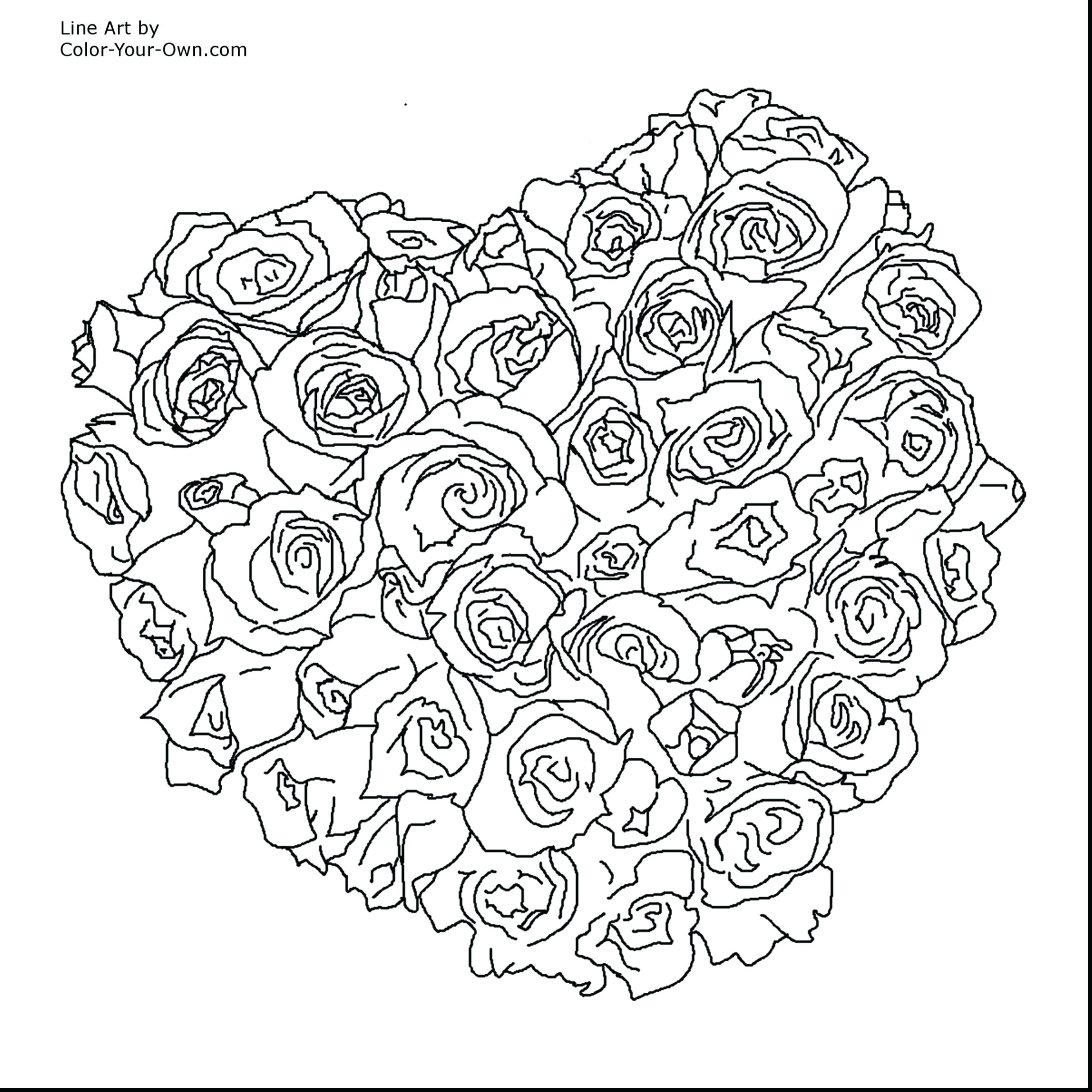 2640x2640 Adult Coloring Pages Hearts