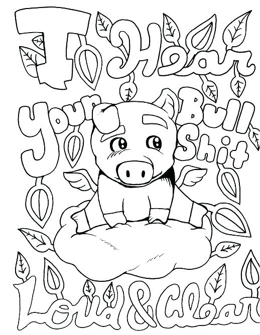 518x668 Print Off Coloring Pages Pig Adult Coloring Page Swear Free