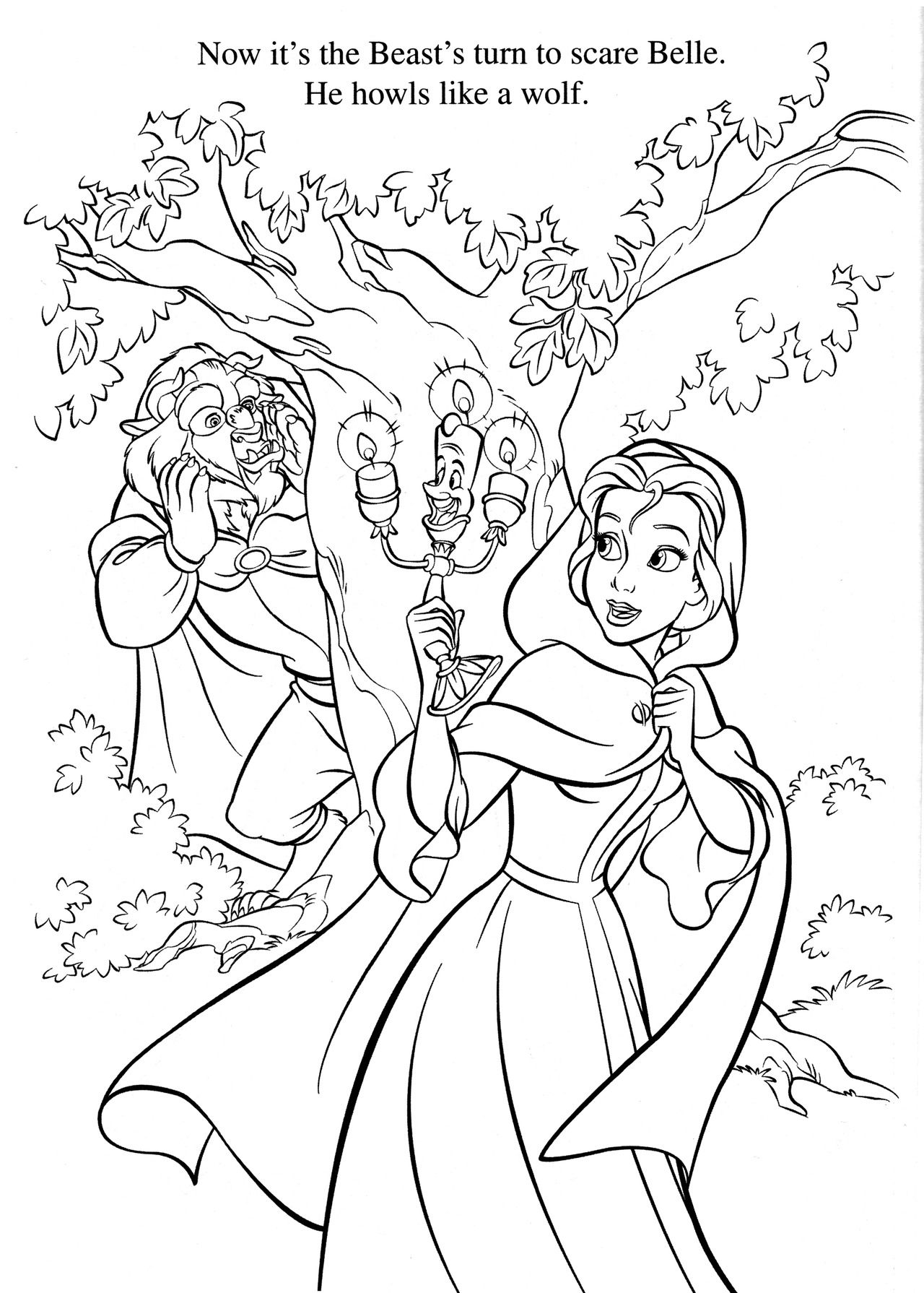 1280x1790 Tested Beauty And The Beast Adult Coloring Pag