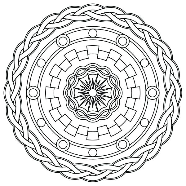 600x600 Adult Coloring Pages Mandala Free Printable Mandala Coloring Pages