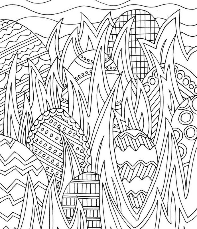691x800 Easter Coloring Pages For Adults