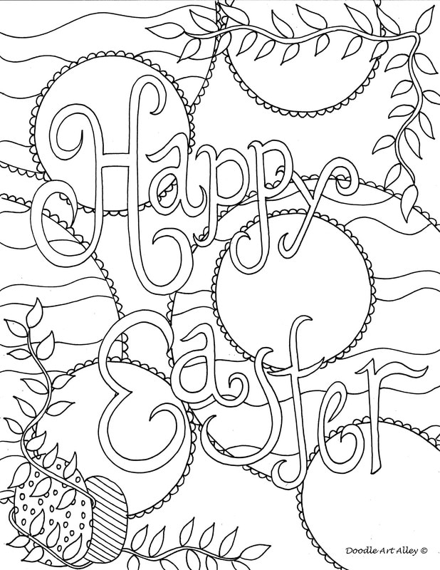 618x800 Unique Spring Easter Holiday Adult Coloring Pages Designs Fun Time