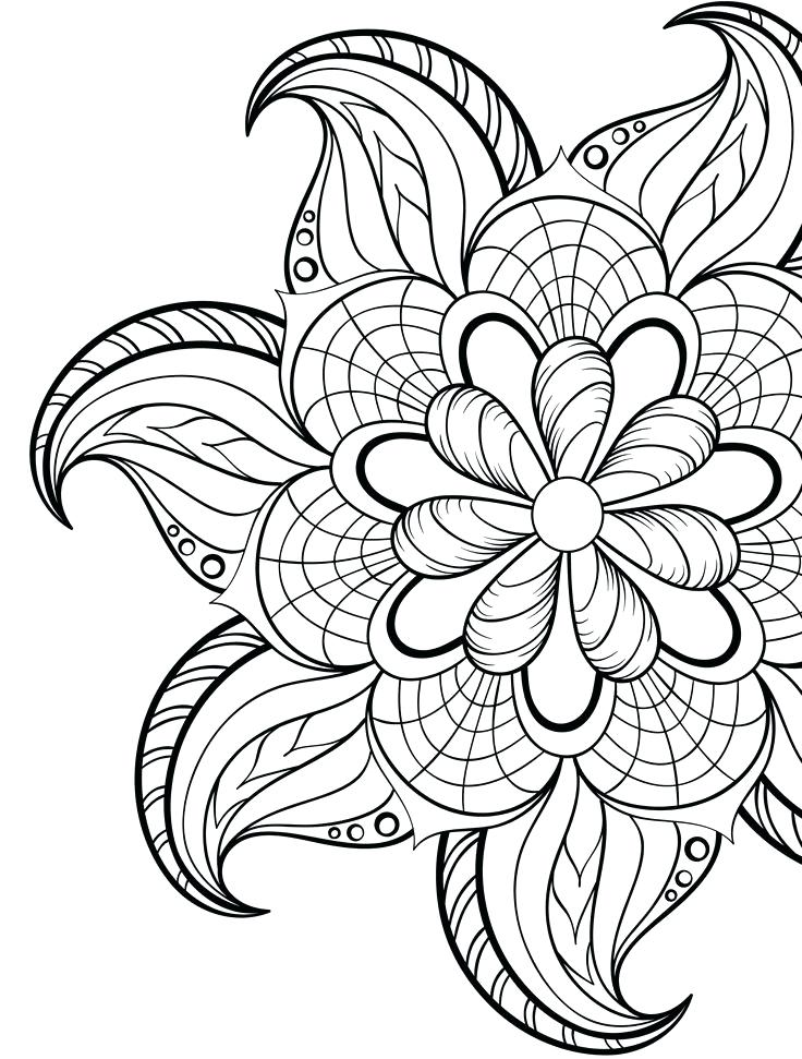 736x971 Adult Coloring Pages Flowers Wonderful Coloring Pages Flowers