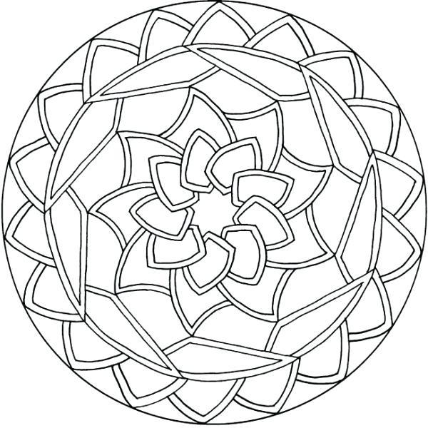 600x600 Easy Animal Mandala Coloring Pages Printable Mandala Coloring