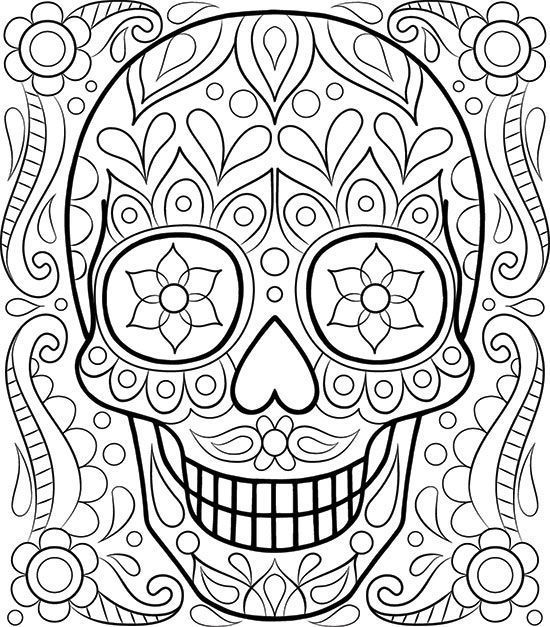550x627 Free Easy Adult Coloring Pages