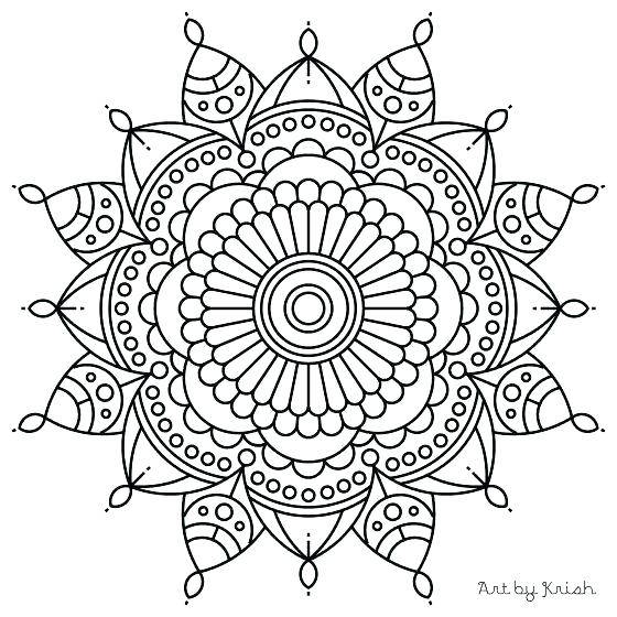 560x560 Mandala Art Coloring Pages Mandala Art Colouring Pages Easy Adult