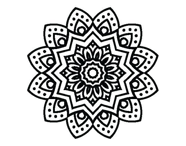 600x470 Mandala Coloring Pages Easy Mandala Coloring Pages Mandala