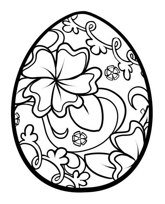 570x706 Unique Spring Easter Holiday Adult Coloring Pages Designs
