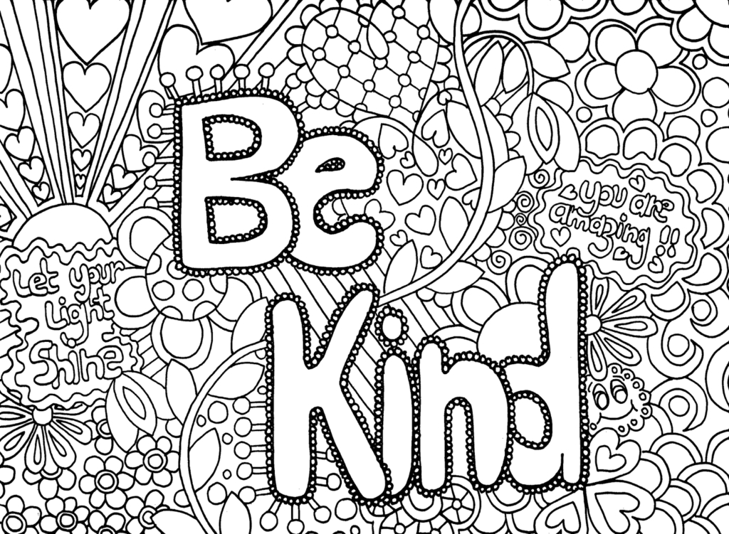 1024x751 Easy Adult Coloring Pages Free To Print Download
