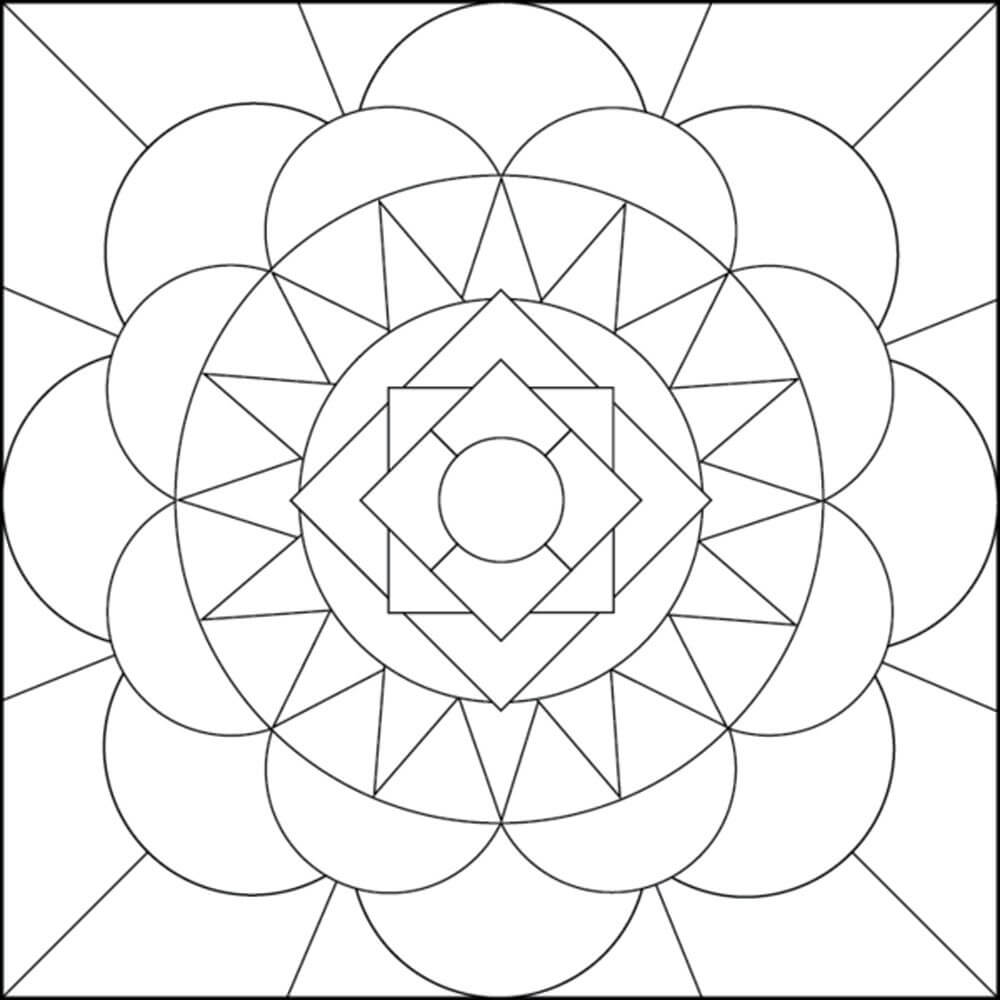 1000x1000 Clever Design Ideas Easy Geometric Coloring Pages Printable Adult