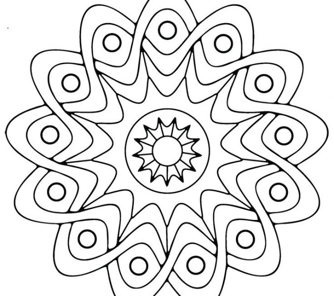678x600 Easy Adult Coloring Pages Coloring Page