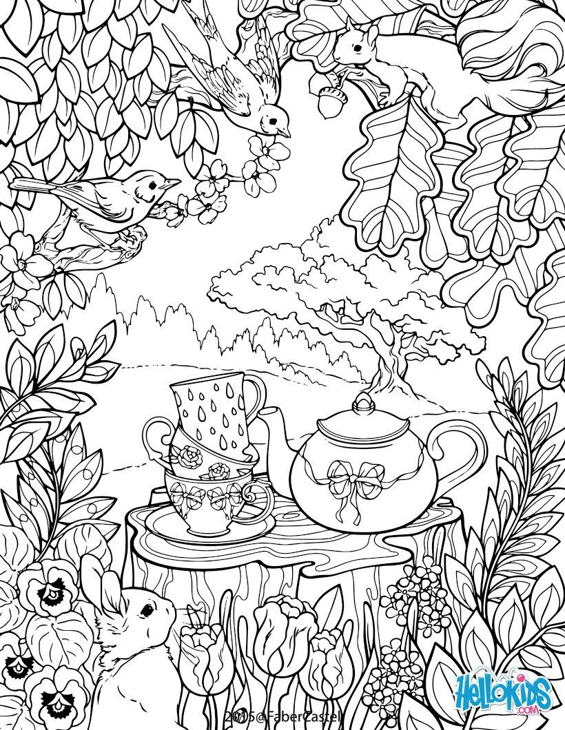 Adult Coloring Pages Garden At Getdrawings Free Download
