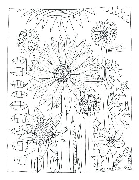 540x699 Coloring Book Pages Flowers Adult Coloring Pages Flowers
