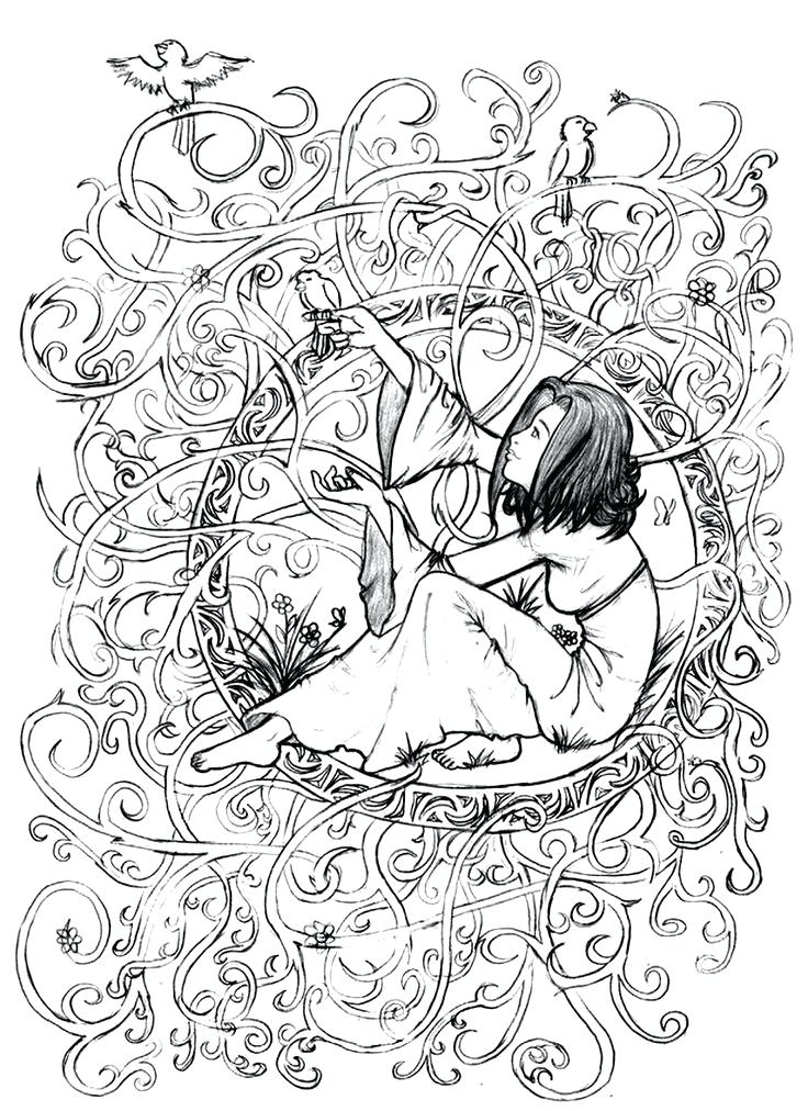 736x1012 Fairy Garden Coloring Pages Best Adult Coloring Book Pages