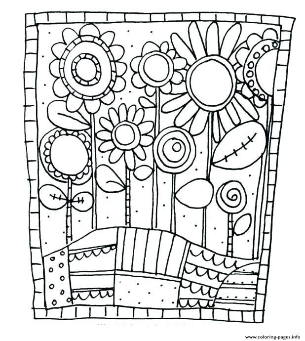 618x690 Garden Flowers Coloring Pages Flower Coloring Pages For Adults