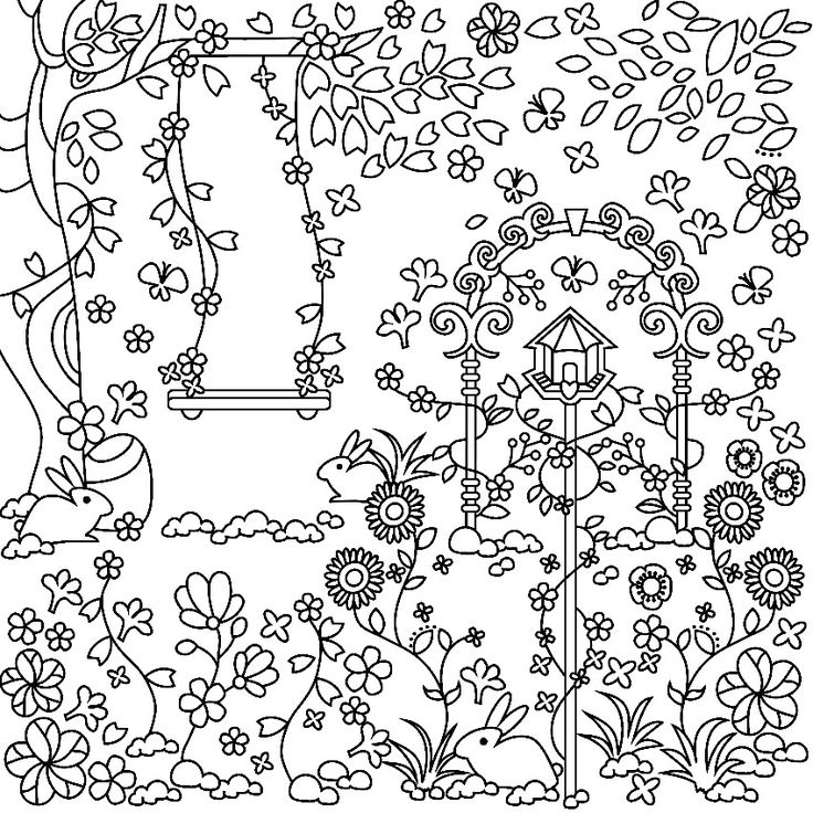736x736 Best Garden Coloring Pages Images On Coloring