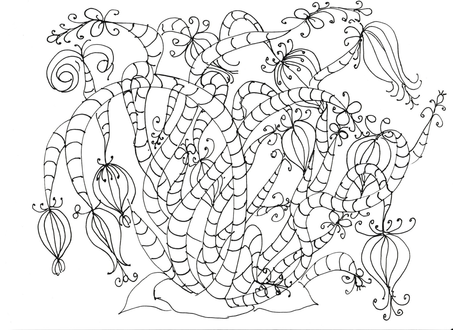1500x1092 Adult Coloring Pages Flowers, Plants, Garden