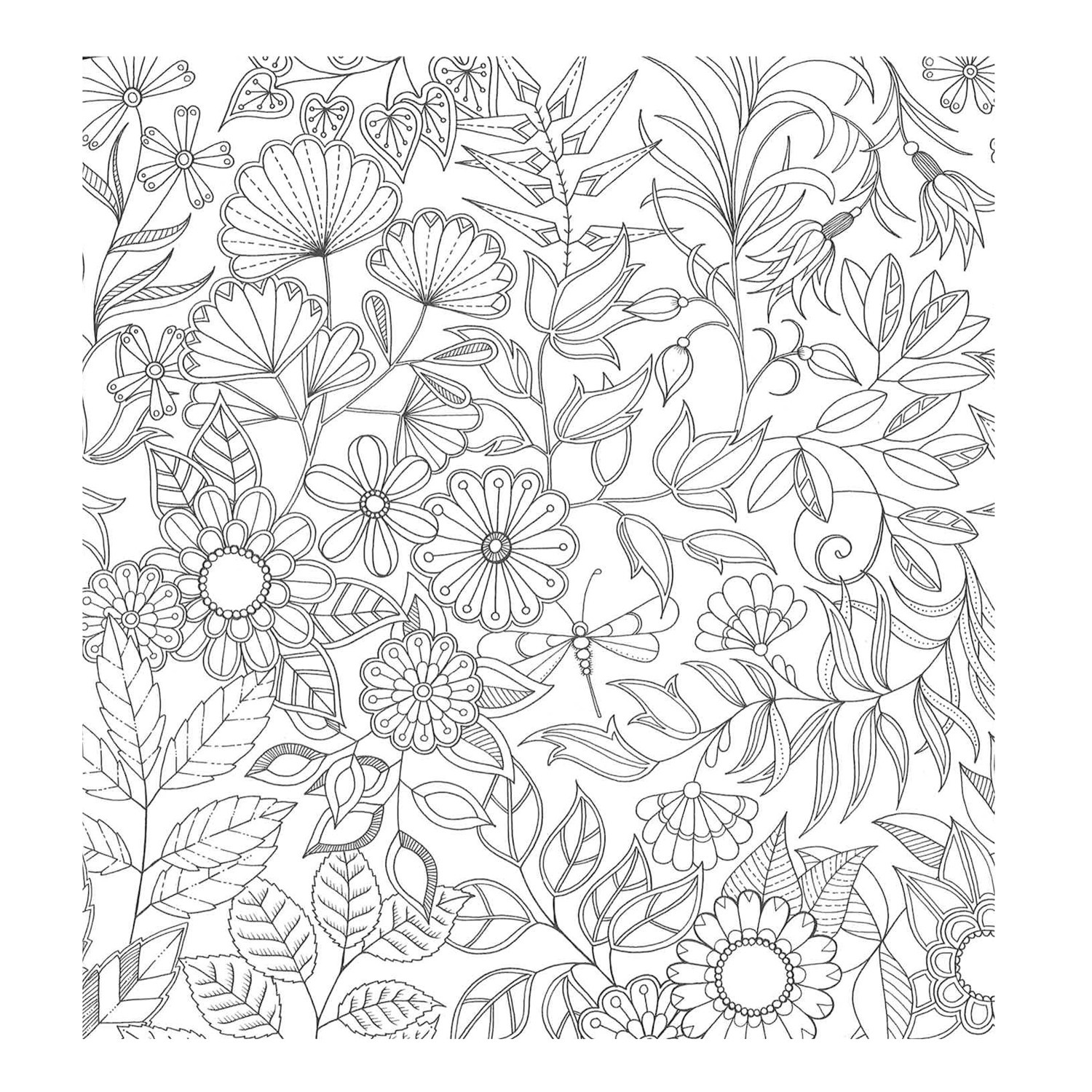 1500x1500 Adult Coloring Pages Secret Garden Collection Coloring Sheets