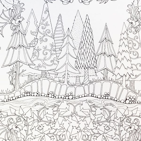 600x600 Artist Johanna Basford Enchanted Forest Coloring Pages Garden
