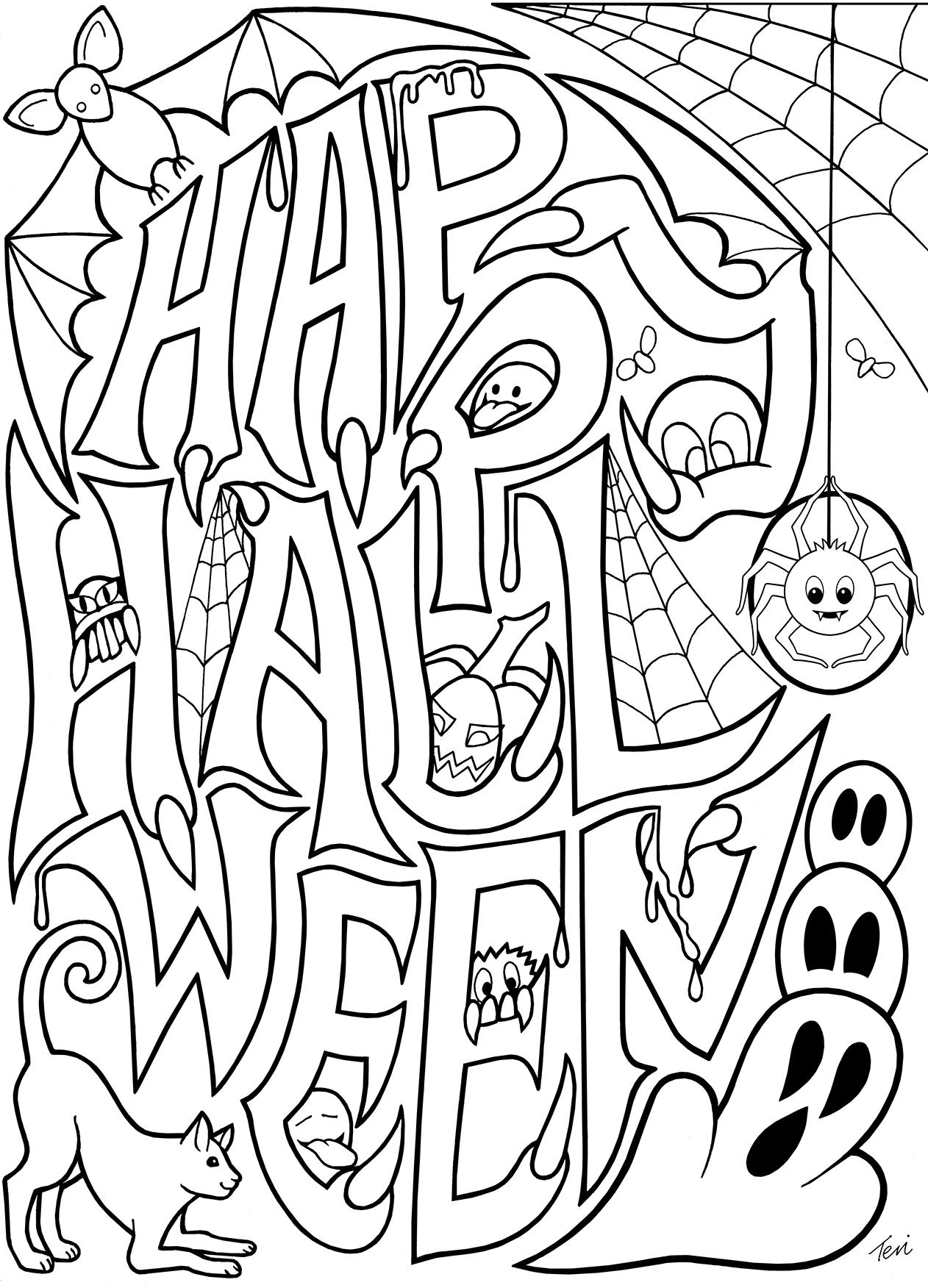 1262x1752 Free Adult Coloring Book Pages