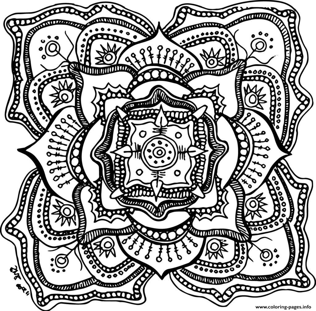 1024x1010 Halloween Adult Mandala Coloring Pages Printable
