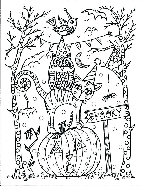 570x738 Halloween Coloring Pages Printables Coloring Pages For Adults