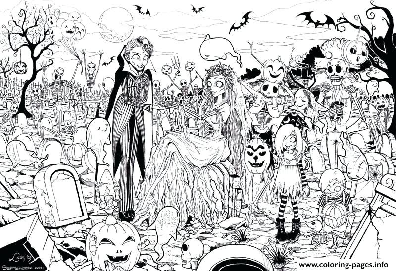 800x547 Halloween Adult Coloring Pages Halloween Coloring Pages To Print