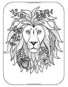 236x305 Free Coloring Page Coloring Adult Africa Lion Head Magnificient