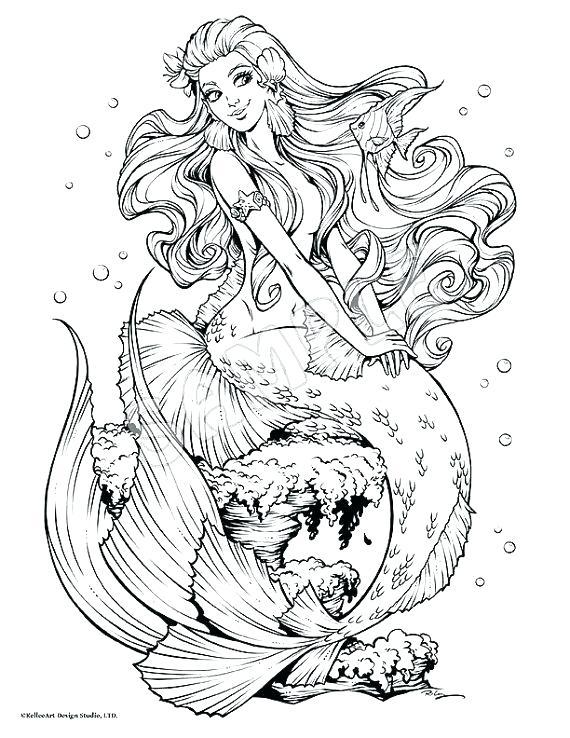 570x738 Mermaid Coloring Pages Mermaid Coloring Pages Mermaid Coloring