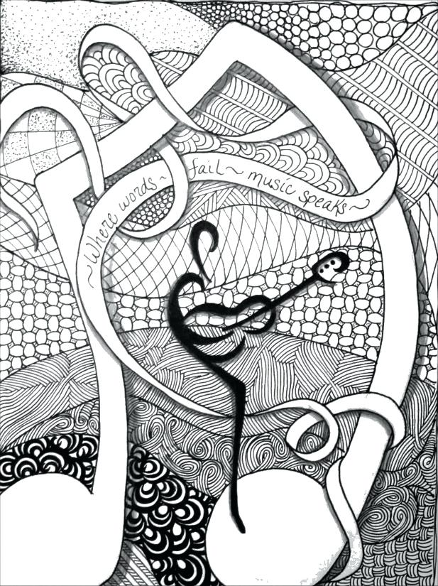 617x825 Music Color Pages Music Coloring Book And Music Coloring Pages