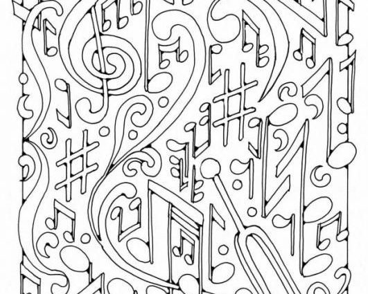 531x425 Adult Coloring Pages Music Music Coloring Pages Pdf Music Coloring