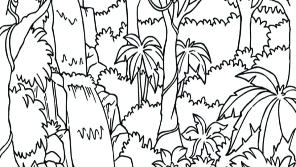 960x544 Coloring Pages Of Nature Coloring Pages Nature In Waterfall