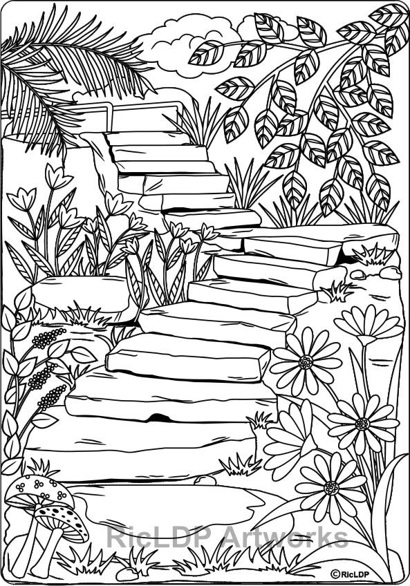 593x848 Twenty Coloring Pages For Grown Ups Adult Coloring, Coloring
