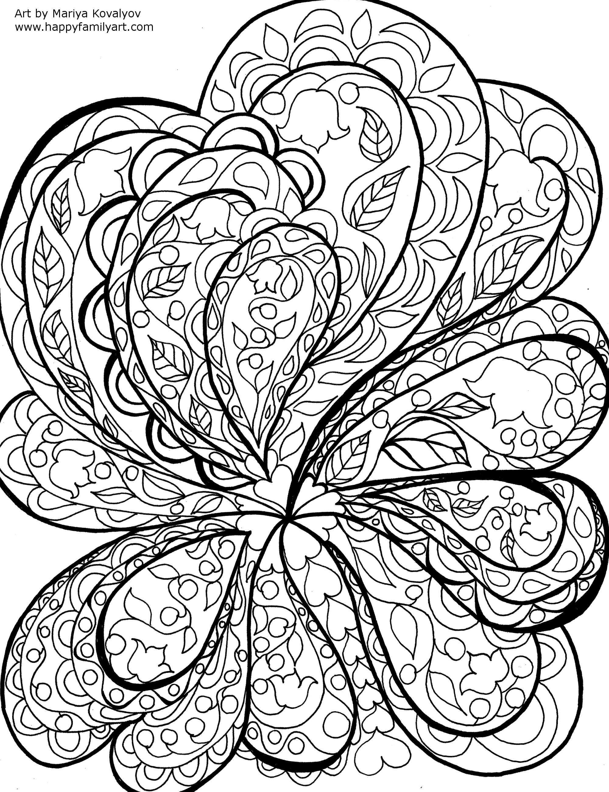 2000x2599 Original And Fun Coloring Pages Nature Pattern, Adult Coloring