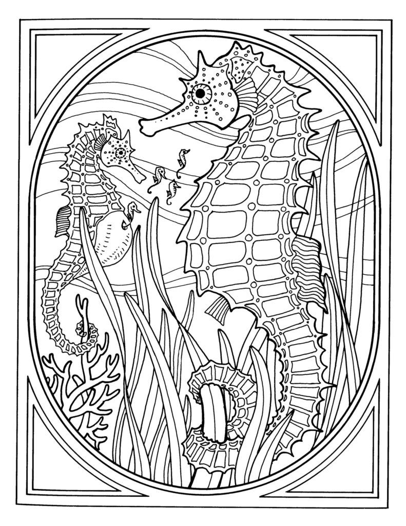 791x1024 Coloring Pages Exquisite Ocean Coloring Pages For Adults Best