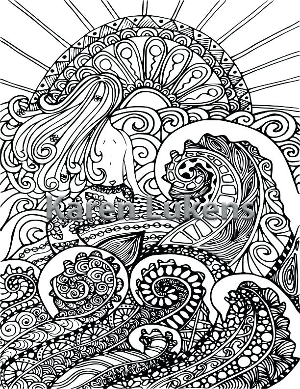 612x792 Adult Coloring Book Pages Ocean Pack Adult Coloring Book